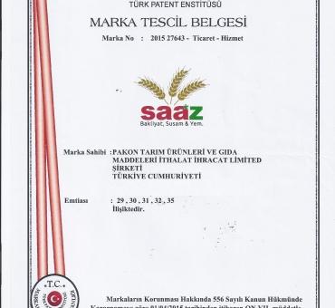 SAAZ™ Patent Belgesi